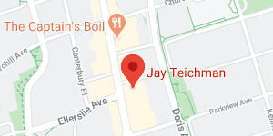 office location for Jay Teichman on map of Toronto